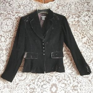 Ann Taylor Brown Velvet Jacket 34 Bust 28 Waist